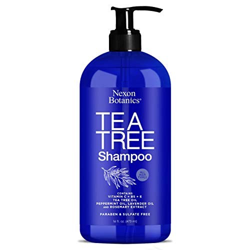 Nexon Botanics Tea Tree Shampoo 16 fl oz - Tea Tree Oil Shampoo Special for Itchy, Dry Scalp,...
