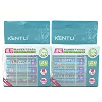 KENTLI 8pcs 1.5v 1100mAh Lithium-ion Polymer Rechargeable Battery Charger AAA Batteries Pack