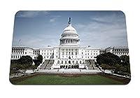 22cmx18cm マウスパッド (国会議事堂ホワイトハウスアメリカ政府) パターンカスタムの マウスパッド