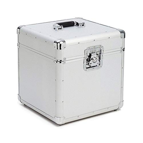 New Zxcvlina-JJ Aluminum Vinyl Record Storage Carrying Case Lp Record Player Crates for Records Hold...