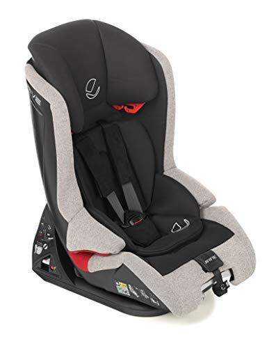 Jané 4589 T80 Kindersitz i-Size Gruppe 1 2 3, von 75 bis 150cm, mit Top Tether, Rückenlehne verstellbar, Bezug kann abgezogen und gewaschen werden, inklusive Sitzverkleinerer, grau