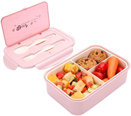 Sunshine smile Kinder Lunchbox unterteilung,brotbox Kinder bpa frei,Picknick Ausflug Lunchbox Kinder,Kinder Lunchbox mit fächern,Kinder Bento Box (Pink)