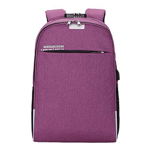 JiaMeng Mujer Trabajo Casual Backpack Antirrobo Impermeable Mochila Unisex USB Bolso Informal Mochila Bolsa de Viaje Mochila de Negocios