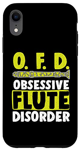 iPhone XR Funny OFD Obsessive Flute Disorder Wind Music Flutes Lovers Case