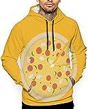 flys Love Pizza Sweat-Shirt à Capuche Unisexe à Manches Longues avec Grandes Poches - Multicolore - XXL