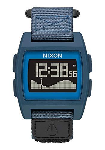 NIXON Base Tide Nylon A1169 - Navy - 100m Water Resistant Men's Digital Surf Watch (38mm Watch Face, 22mm Nylon Band)