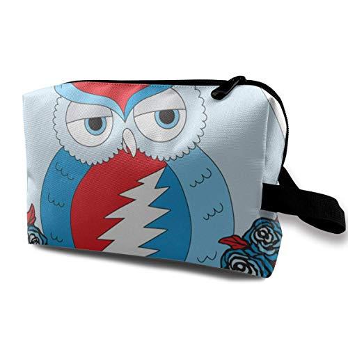 Hdadwy Steal Your Face Clo Owl Cosmetic Bag Bolso de Viaje portátil Neceser de Viaje Bolsas de Maquillaje pequeñas Organizador de Estuches