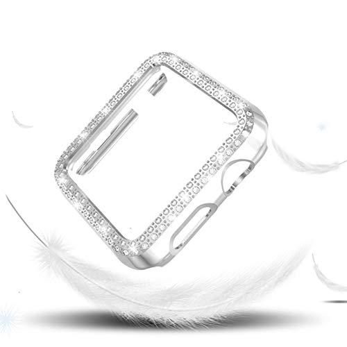Estuche de diamantes para Apple Watch 5 44 mm 40 mm para iWatch Serie 4 Cubierta protectora de pantalla Estuche para reloj de PC para Apple Watch 3 Estuche 38 mm 42 mm