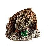 Zonster Resina Artificial De La Vendimia Antiguo Faraón Egipcio Esfinge Ruinas Pilar Estatua Acuario Decoraciones del Acuario Ornamento