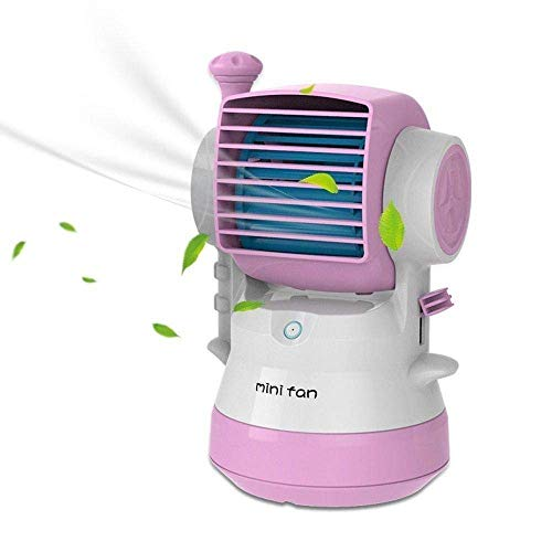 MOHAK Portable Office Home Outdoor Travel Use Tank Style Perfumes Smell Desktop Bladeless Mini Fan Air Conditioner USB Powered Summer Mist Fan Cooler (Multicolour)