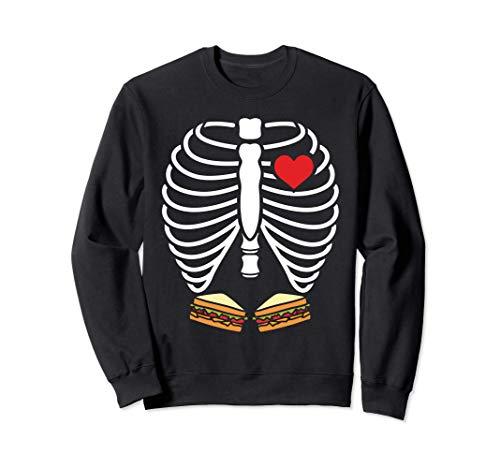 Disfraz de Halloween Sndwich Esqueleto de rayos X Sudadera