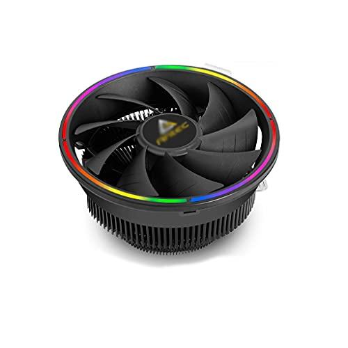 Disipador Pc CPU Cooler RGB Perfil de iluminación Mini ITX CPU Refrigerador de Aire, Base de Columna de Cobre Aletas de Aluminio 120 mm Ventilador silencioso Aerocool