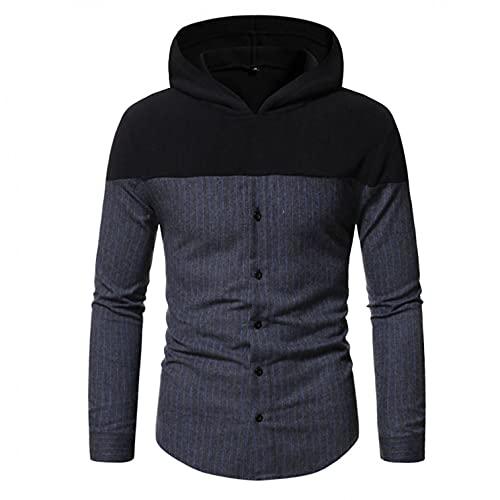 Maryia Men's Winter Thermal Basic Coats Casual Contrast Plaid Raglan Hoodies Button Down Wool Blend Sweatshirts