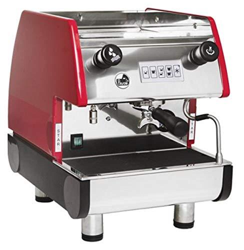 La Pavoni PUB 1V-R 1 Group Volumetric Espresso Machine, Anti-vacuum Valve, Copper Boiler, Ruby Red