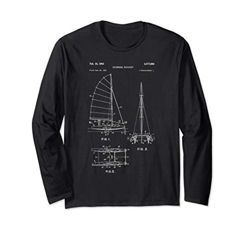 Vintage Catamaran Sailboat Long Sleeve Shirt - Sailing Boat