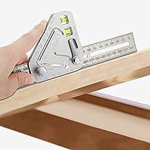 wastreake Régua de triângulo para trabalhos em madeira, réguas de carpintaria, ferramentas de medição revolucionárias