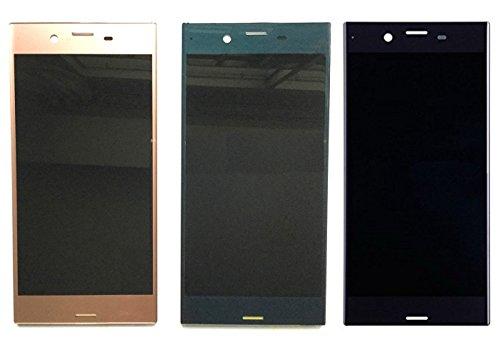 Sony Xperia XZ 交換用 液晶パネル フロントパネル セット Kayyoo フロントガラスデジタイザ タッチパネル 交換パーツ 粘着テープ+修理工具付き (黒)