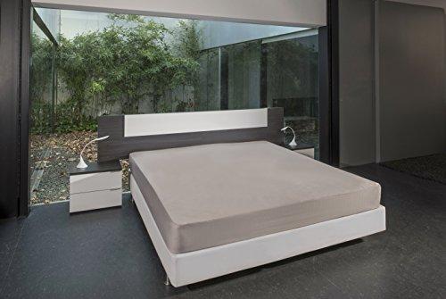 B.sensible BSensible Tencel-Spannbettlaken, wasserdicht und atmungsaktiv Betten mit Gelenkkopf 70+70 X 190 Beige (Beige)