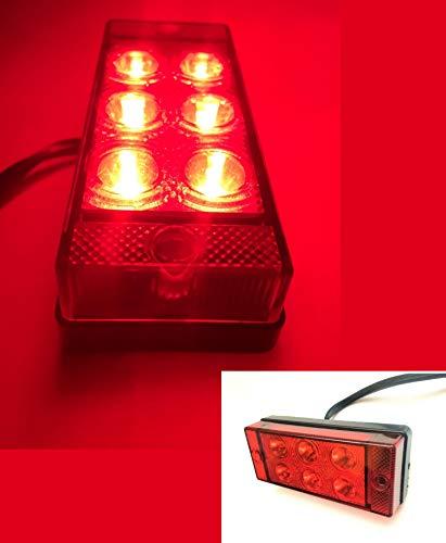 Nebelschlußleuchte Nebellicht Nebelleuchte 108x46x24mm Universal 12/24V 2W 6 LED