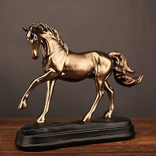 JYKFJ Estatuas Esculturas Artículos Decorativos Escultura Moderna Resina Vintage Figuras de Caballos Adornos Escultura de Caballos Oficina Sala de Estar Artesanía Decoración Estatuas