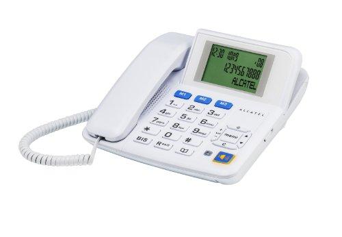 Alcatel Tmax - Teléfono fijo (teclas grandes), color blanco (importado)