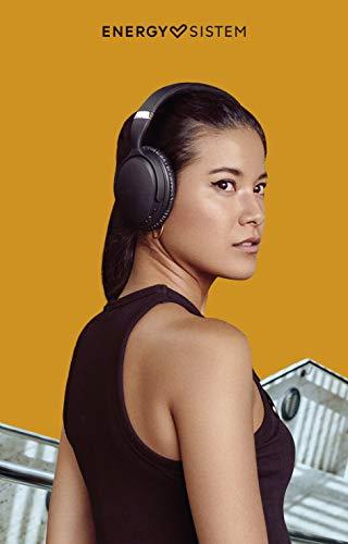 Energy Sistem BT Travel 7 - Auriculares Bluetooth con tecnología Active Noise Cancelling, Color Negro
