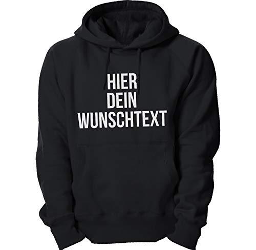 Kapuzenpullover mit Wunschtext/Selber gestalten mit dem Amazon T-Shirt Designer/Hoodie Druck/Shirt Designer Kapuzenpullover Hoodie-Charcoal-XL