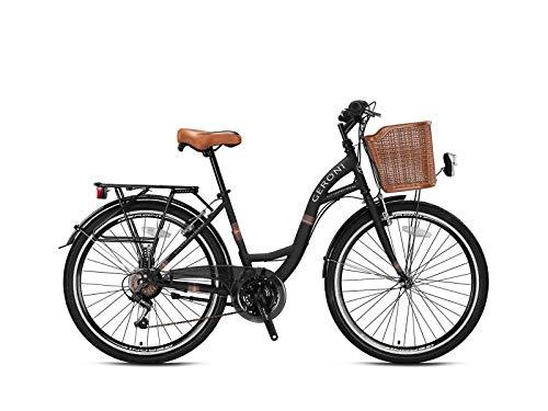 26 Zoll Geroni Sirio Damenfahrrad Mädchen City Fahrrad Rad Hollandrad 21 Gang