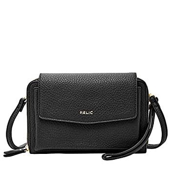 Relic by Fossil Women s Kari Wallet On A String Color  Black Model   RLS9809001