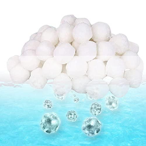 EXTSUD Filter Balls ersetzen Filtersand, 700g Filterbälle für Pool Schwimmbad Filterpumpe Aquarium Sandfilter Poolzubehör Poolreiniger Sandfilteranlage für Salzwasser geeignet