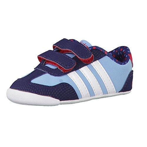 adidas Neo Kinderschuhe Babyschuhe Krabbelschuhe Dino Crib blau, Größe:19