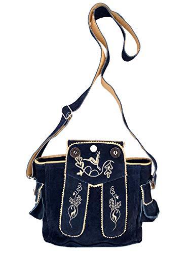 Trachtentasche Dirndltasche Lederhosen-Tasche Umhängetasche Leder dunkelblau
