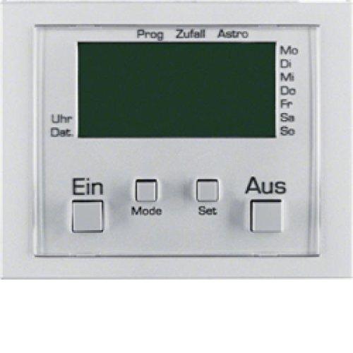 Hager k5 - Módulo interruptor horario con display sin conexion aluminio