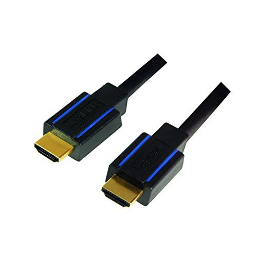 LogiLink Zertifiziertes Premium HDMI Kabel für Ulrta HD bis 18GBit/s, 4K + HDR + 3D, 3840x2160 (50/60Hz), 3.0m in Schwarz
