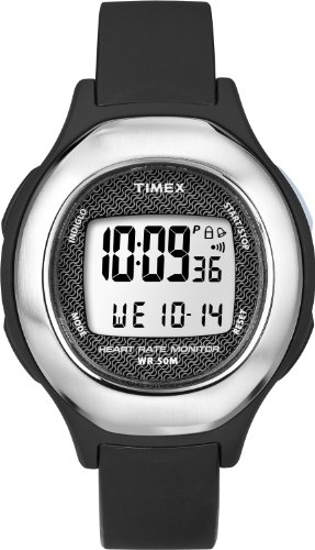 Timex Strapless Heart Rate Monitor Midsize Watch (Black, Mid-Size) Unisex