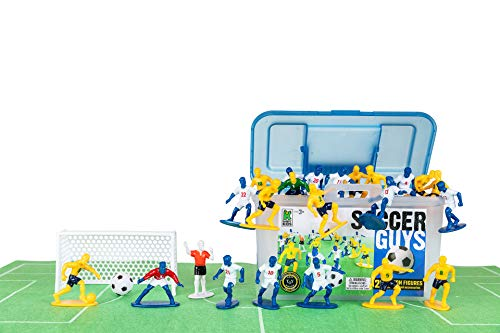 Kaskey Kids Soccer Guys – Blue/Yellow Inspires Kids Imaginations with Endless Hours of Creative, Open-Ended Play – Includes 2 Teams
