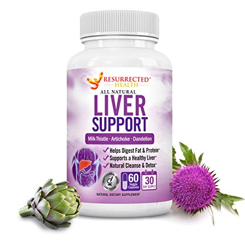 Liver Cleanse Supplement with Milk Thistle - Potent Liver Detox Pills to Flush Toxins & Boost Weight Loss - Plant Based Liver Support Supplement for Women & Men