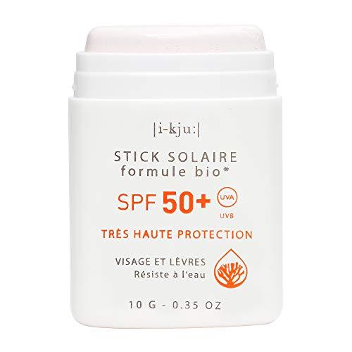 EQ | Protector Solar Facial en Stick SPF50+ - Filtros Minerales - Cara y Zonas Sensibles - Protección UVA UVB muy alta - Resistente al Agua - Blanco - 10g