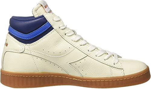 Diadora Game L High, Sneaker a Collo Alto Uomo, Bianco/Blu Estate, 36 EU
