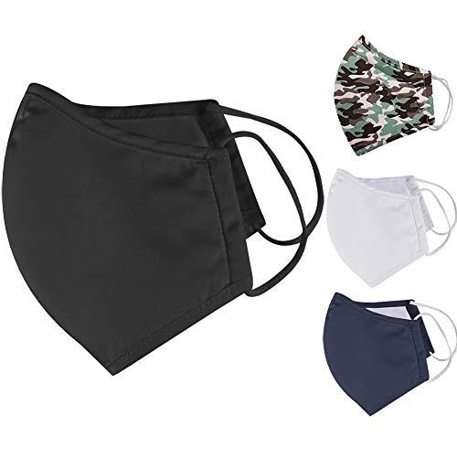 Iron Mountain 5 Pack 3 Layer Polyester Cotton Nano Mesh 30 x Washable 3 Maanden Wear Anti penetratie waterafstotende Face Mask, Black