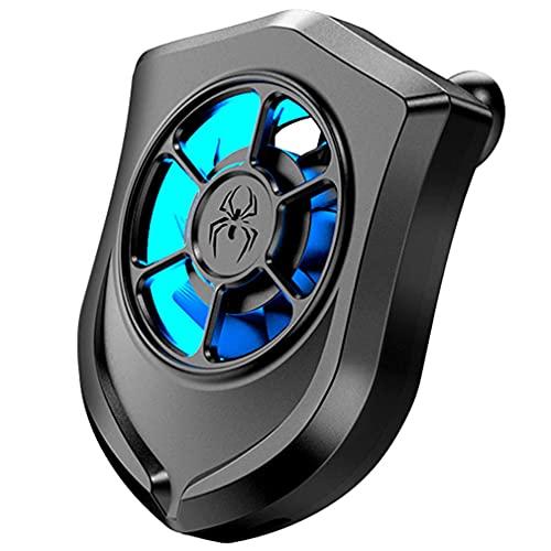 RHNE Ventilador P11 Radiador de teléfono móvil Enchufe Comer Pollo Artefacto Ventosa Inversor DC Motor Radiador Negro 76 * 63 * 20mm