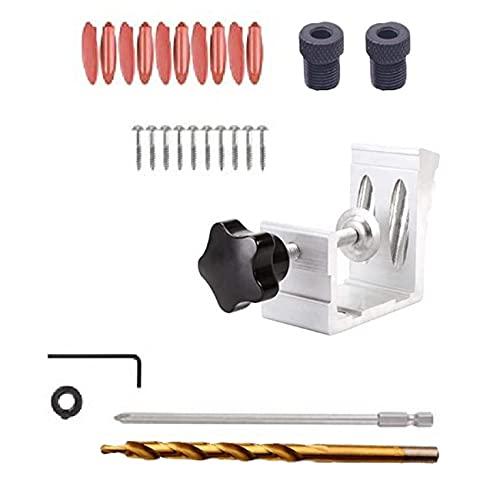 Ashley GAO Aluminio carpintería inclinado agujero localizador conjunto bolsillo agujero plantilla inclinado agujero posicionador bolsillo kit