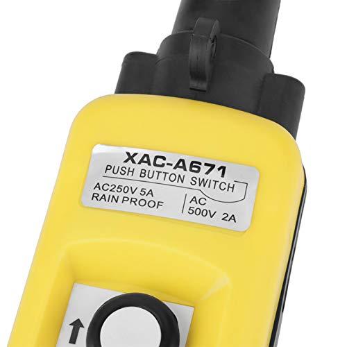 Controlador colgante de elevación, práctico interruptor de control colgante de grúa, grúa de repuesto para sistema de control de polipasto portátil 5A de 18.5 * 3 pulgadas para polipasto