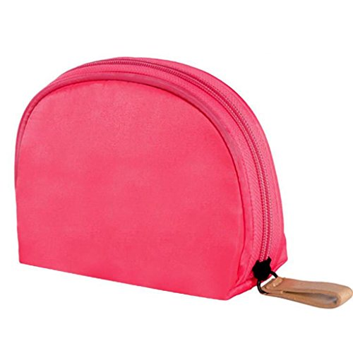 Benfa Voyage Simple Sac cosmétique Sac de Rangement cosmétique Femelle Corée Petit Paquet Portable Portable imperméable à l'eau Mini, Watermelon Red - big