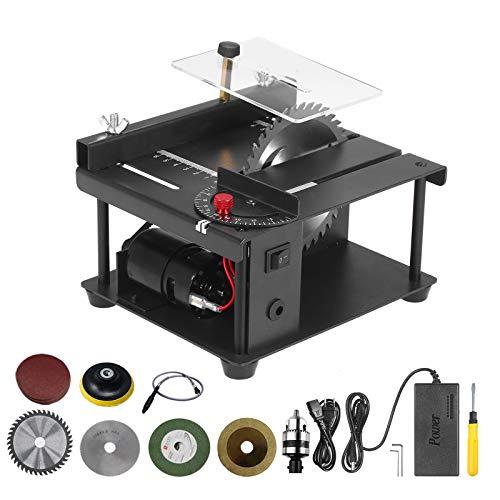 Sierra de mesa multifuncional Mini cortadora de sierra de escritorio Máquina de...