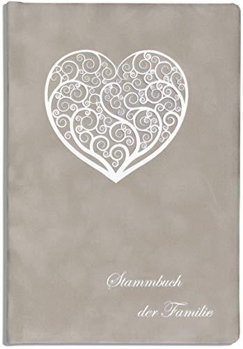 Stammbuch grau Stammbuch der Familie Sird Herz Standesamt Hochzeit