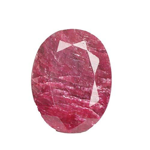 Rubis naturel à facettes fines pierres précieuses en vrac de couleur rouge, AAA rubis ovale forme 67,50 Ct pierre pour la fabrication de bijoux