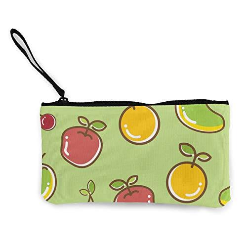 Mango Cherry en oranje munt portemonnee portemonnee tas geld zak veranderen zak sleutelhouder mobiele telefoon tas met handvat bedrukt canvas op maat