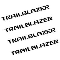 シボレースパークアベオトラックスクルーズマリブキャプティバラセッティトラバーストレイルブレイザー用4個/ロットオートウィンドウワイパービニールステッカー (Trailblazer black)
