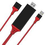Cavo da Smartphone a HDMI per iPhone&Android, Najiny Adattatore 3 in 1 Telefono Cellulare Micro USB di Tipo C al Monitor Proiettore TV, 1080P Cavo Digitale USB2.0 Connettore per Dispositivi Mobili